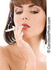 smoking lady #2