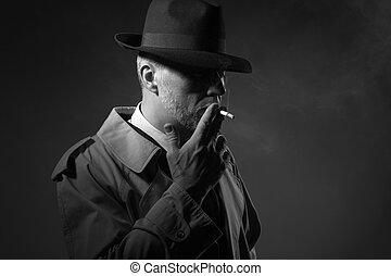 smoking, man, sigaret