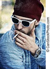 smoking outdoor