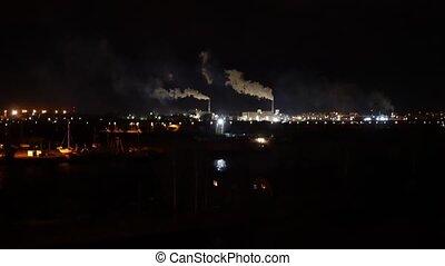Smoking pipe at night