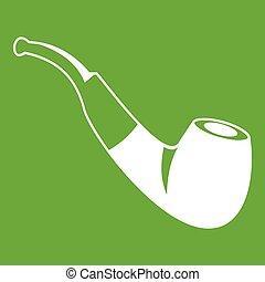 Smoking pipe icon green