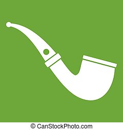Smoking pipe icon green
