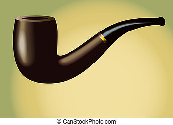Smoking Pipe: isolated on background. Illustration is in eps10 vector mode!