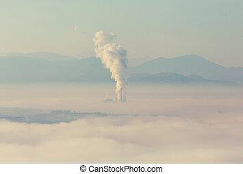 Smoking pipe - Smoke of pipes pollutes atmosphere