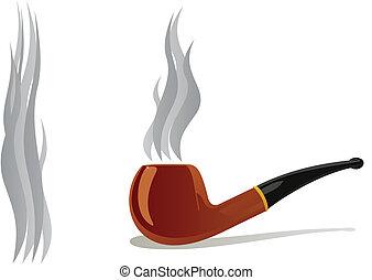 Smoking Pipes - Tube for tobacco smoking. The illustration...