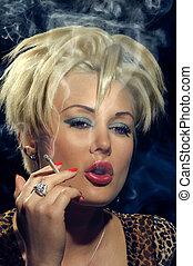 Smoking punk girl