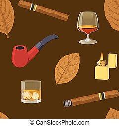 Smoking Seamless Pattern
