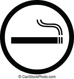 Smoking sign vector illustration