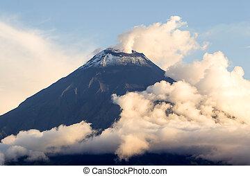 Smoking Tungurahua Volcano