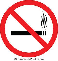 """smoking"""", vector, """"no, señal"""