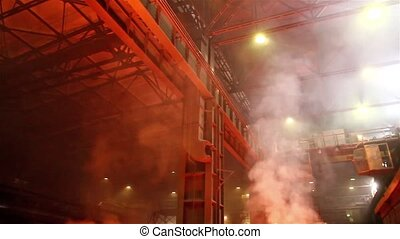 Smoky and hard working environment