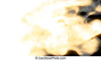 Smoky big fire blast wave wipe