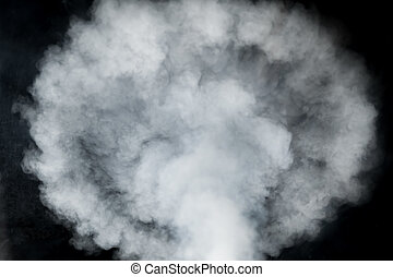 smoky cloud isolated on black