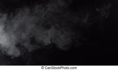 Smoky cloud of cigarette, 4k - White smoky cloud of...