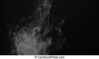 Smoky cloud of electronic cigarette - White smoky cloud of...