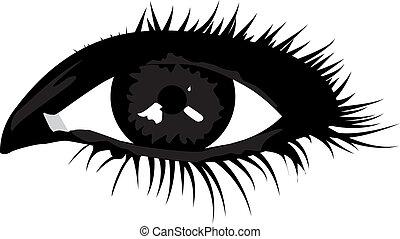 Woman make-up smokt eye