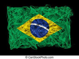 smoky flag of Brasil