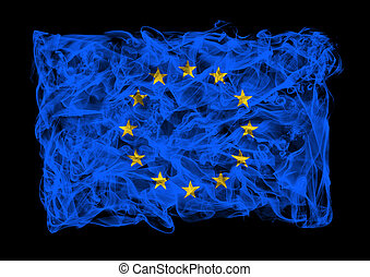 smoky flag of Europe Union - The flag of Europe Union...