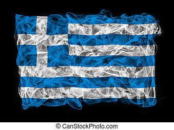 smoky flag of Greece