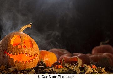 Smoky Halloween pumpkin