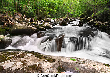 Smoky Mountain Waterfall - Beautiful waterfall in Great ...