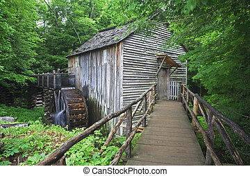 Smoky Mountains - The John P Cable Grist Mills was built in...