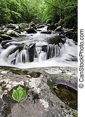 Smoky Mountains Waterfall - Beautiful waterfall, Middle...