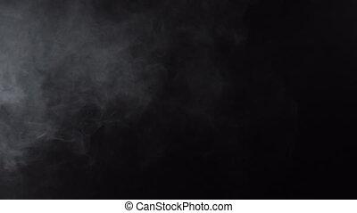 Smoky white cloud of e-cigarette, 4k - White smoky cloud of...