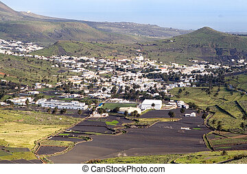 Smol town Haria, Lanzarote, Canary Islands, Spain - Village...