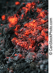 smolder coals with small depth of focus
