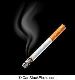smoldering, cigarette