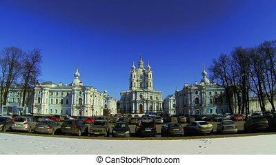 Smolny of the Resurrection of Christ Cathedral in St. Petersburg.