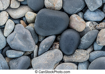 Smooth Beach Rocks at upper edge of tide