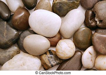 smooth beach rocks