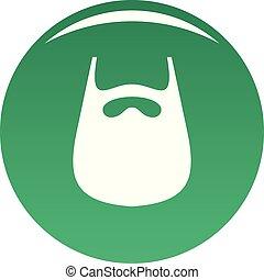 Smooth beard icon vector green