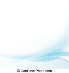 Smooth blue lines abstract background. Vector illustration