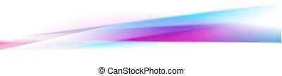 Smooth blue purple stripes abstract banner design