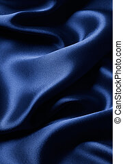blue satin - smooth blue satin with curve and ripple