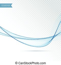 smooth blue wave abstract vector background design
