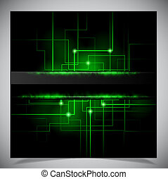 Smooth colorful abstract techno background. Vector ...
