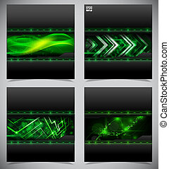 Smooth colorful abstract techno backgrounds. Vector...