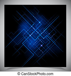 Smooth colorful abstract techno background. Vector...