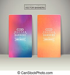 smooth colorful background design for banners set template