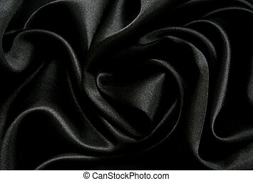 Smooth elegant black silk as background - Smooth elegant...