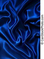 Smooth elegant blue silk