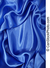 Smooth elegant blue silk can use as background