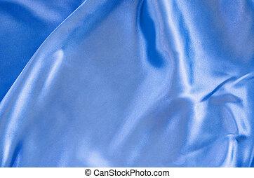 Smooth elegant blue silk.
