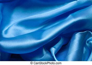 Smooth elegant dark blue silk can use as background