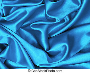 Smooth elegant dark blue silk