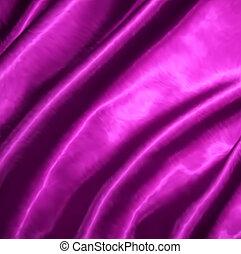 Smooth elegant pink silk. Vector